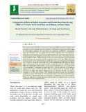 Comparative effects of deficit irrigation and partial root zone drying (PRD) on growth, yield and water use efficiency of Rabi maize
