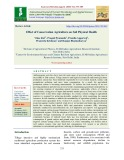 Effect of conservation agriculture on soil physical health