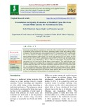 Formulation and quality evaluation of modified UPMA mix from foxtail millet and soy for nutritional security