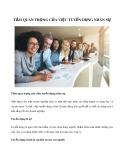 Tầm quan trọng của việc tuyển dụng nhân sự