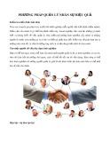 Phương pháp quản lý nhân sự hiệu quả