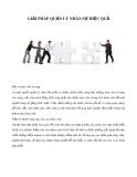 Giải pháp quản lý nhân sự hiệu quả
