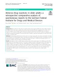 Adverse drug reactions in older adults: A retrospective comparative analysis of spontaneous reports to the German Federal Institute for Drugs and Medical Devices