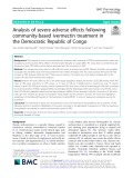 Analysis of severe adverse effects following community-based ivermectin treatment in the Democratic Republic of Congo