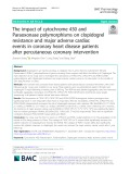 The impact of cytochrome 450 and Paraoxonase polymorphisms on clopidogrel resistance and major adverse cardiac events in coronary heart disease patients after percutaneous coronary intervention