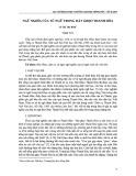 Ngữ nghĩa của từ ngữ trong hát Ghẹo Thanh Hóa