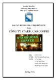 Tiểu luận môn Quản trị chiến lược: Công ty Starbucks coffee