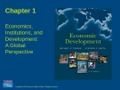 Lecture Economic development - Chapter 1: Economics, institutions, and development: a global perspective