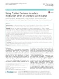 Using Positive Deviance to reduce medication errors in a tertiary care hospital