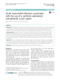 Acute myocardial infarction, associated with the use of a synthetic adamantylcannabinoid: A case report