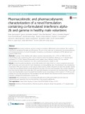 Pharmacokinetic and pharmacodynamic characterization of a novel formulation containing co-formulated interferons alpha2b and gamma in healthy male volunteers