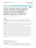 Adverse drug events observed in patients with type 2 diabetes mellitus treated with 100 mg versus 300 mg canagliflozin: A systematic review and meta-analysis of published randomized controlled trials
