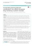 Incorporating pharmacodynamic considerations into caffeine therapeutic drug monitoring in preterm neonates