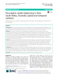 Prescription opioid dispensing in New South Wales, Australia: Spatial and temporal variation
