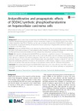 Antiproliferative and proapoptotic effects of DODAC/synthetic phosphoethanolamine on hepatocellular carcinoma cells