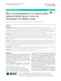 Effect of astragaloside IV on indoxyl sulfateinduced kidney injury in mice via attenuation of oxidative stress
