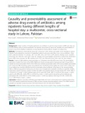 Causality and preventability assessment of adverse drug events of antibiotics among inpatients having different lengths of hospital stay: A multicenter, cross-sectional study in Lahore, Pakistan