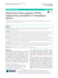 Inflammation down-regulates CYP3A4- catalysed drug metabolism in hemodialysis patients