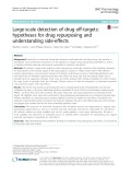 Large-scale detection of drug off-targets: Hypotheses for drug repurposing and understanding side-effects
