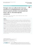 Estrogen and soy isoflavonoids decrease sensitivity of medulloblastoma and central nervous system primitive neuroectodermal tumor cells to chemotherapeutic cytotoxicity