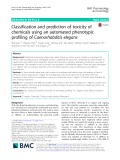 Classification and prediction of toxicity of chemicals using an automated phenotypic profiling of Caenorhabditis elegans