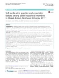 Self-medication practice and associated factors among adult household members in Meket district, Northeast Ethiopia, 2017
