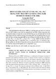 Khảo sát khả năng xử lý COD, NH4 + , NO3 - , PO4 3- trong nước thải thủy sản bằng công nghệ Membrane Bioreactor (MBR)
