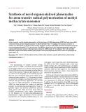 Synthesis of novel organocatalysed phenoxazine for atom transfer radical polymerization of methyl methacrylate monomer