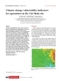 Climate change vulnerability indicators for agriculture in Ho Chi Minh city