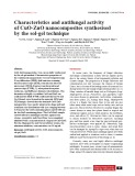 Characteristics and antifungal activity of CuO-ZnO nanocomposites synthesised by the sol-gel technique