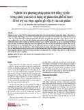 Nghiên cứu phương pháp phân tích đồng vị bền trong nước quả táo sử dụng hệ phân tích phổ kế lazer để hỗ trợ xác thực nguồn gốc địa lý của sản phẩm
