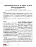 Nghiên cứu điều kiện thích hợp cho quá trình phân hủy yếm khí sinh biogas từ phụ phẩm lá dứa
