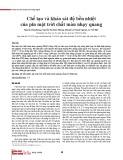 Chế tạo và khảo sát độ bền nhiệt của pin mặt trời chất màu nhạy quang
