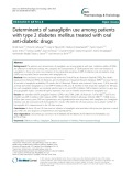 Determinants of saxagliptin use among patients with type 2 diabetes mellitus treated with oral anti-diabetic drugs