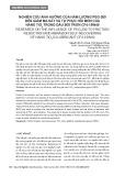 Nghiên cứu ảnh hưởng của hàm lượng PEG-200 đến giảm ma sát và tự phục hồi mòn của nano TiO2 trong dầu bôi trơn CF4-15W40
