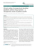 Clinical coding of prospectively identified paediatric adverse drug reactions – a retrospective review of patient records