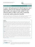 A novel 11β-hydroxysteroid dehydrogenase type1 inhibitor CNX-010-49 improves hyperglycemia, lipid profile and reduces body weight in diet induced obese C57B6/J mice with a potential to provide cardio protective benefits