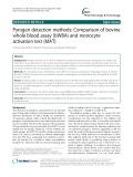 Pyrogen detection methods: Comparison of bovine whole blood assay (bWBA) and monocyte activation test (MAT)