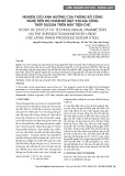 Nghiên cứu ảnh hưởng của thông số công nghệ đến độ nhám bề mặt khi gia công thép SUS304 trên máy tiện CNC