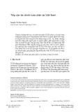 Tiếp cận tài chính toàn diện tại Việt Nam