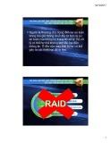 Bài giảng Kiến trúc máy tính và hợp ngữ: RAID - Huỳnh Tổ Hạp