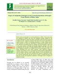 Degree of adaptation strategies by the livestock dependents of drought prone districts of Bihar, India
