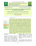 Agriculture for poverty alleviation: The changing role of agricultural extension in developing nations