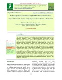 Technological gap in relation to hybrid rice production practices