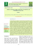 Influence of spacing, fertility and hybrids on productivity and profitability of sweet corn