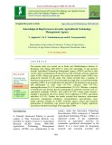 Knowledge of Ragi growers towards agricultural technology management agency