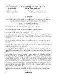 Quyết định số 22/2019/QD-UBND tỉnh YênBái