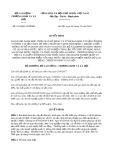 Quyết định 1813/2019/QĐ-BLĐTBXH