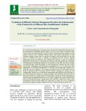 Evaluation of different nutrient management practices for enhancement of the productivity in different rice establishments methods