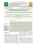 Effect of irrigation levels and mulch on growth and yield of cucumber (Cucumis sativus L.) under poly house